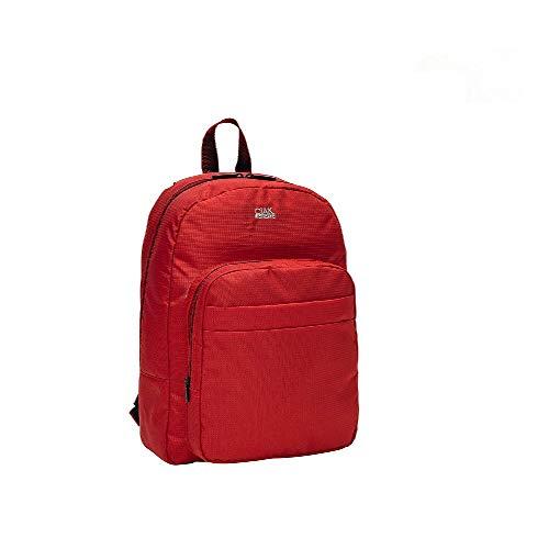 R Roncato Ciak Borsone Zaino Capiente e Comodo per Gite e Viaggi Brevi in Tessuto Jacquard Collezione SMART, Colore Rosso