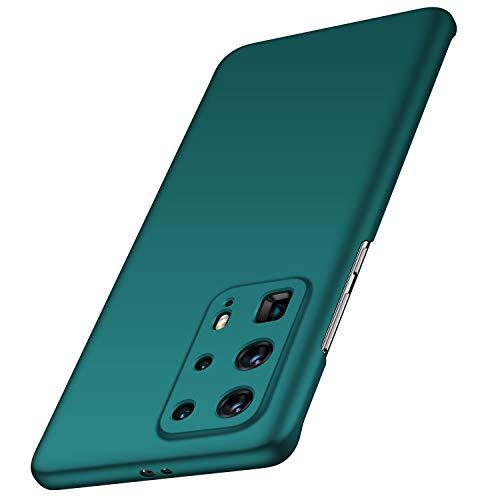 anccer Funda Huawei P40 Pro Plus, Ultra Slim Anti-Rasguño y Resistente Huellas Dactilares Totalmente Protectora Caso de Duro Cover Case para Huawei P40 Pro Plus (Grava Verde)