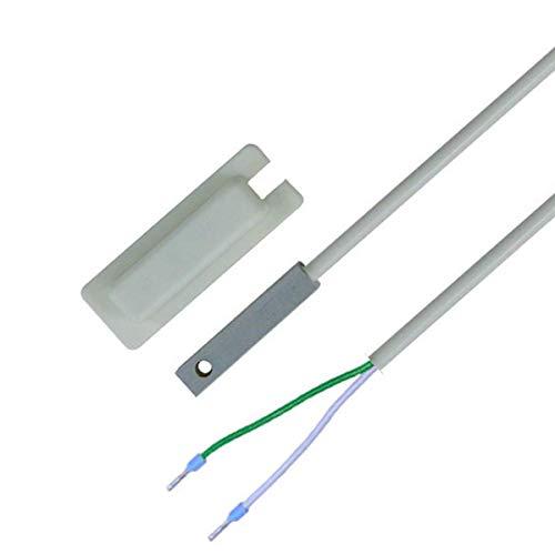 iOVEO 048OF02202 - PT1000 Oberflächenfühler inkl. selbstklebender Schutzkappe, Temperaturfühler, Fühler, PVC Leitung, 2 Meter