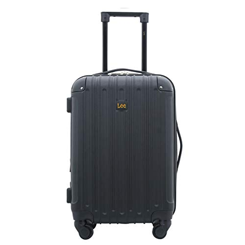 Lee 20' Hardside Spinner Expandable Carry-On Luggage, Black Color Option, One Size