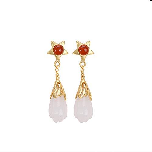 925er Silber Ohrringe Damen, Hetian...