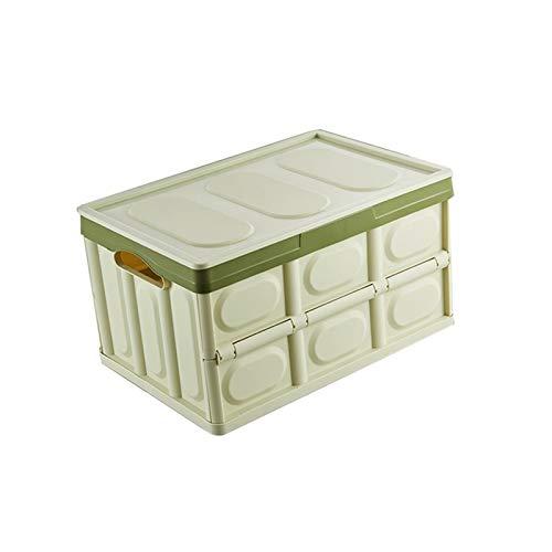 Etrustor Organizador de troncal Caja de contenedor de Almacenamiento de Tronco de Carga con asa (Color : Matcha Green, Size : Small)
