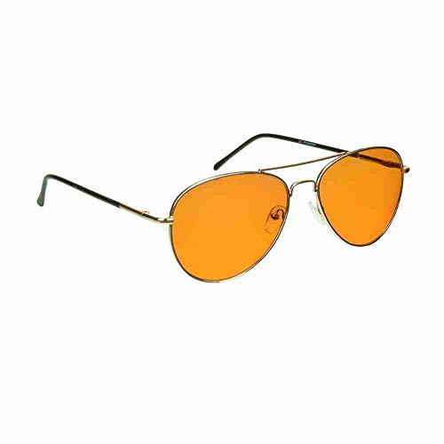 proSPORT Óculos bloqueador de luz azul dormir melhor tela de computador laranja âmbar, Chipper / Ouro, Medium