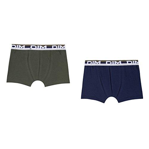 Dim Jungen Lot De 2 Boxers Badehose, Grün (Kaki Green 56), 16 Jahre (Herstellergröße: 16A) (2er Pack)