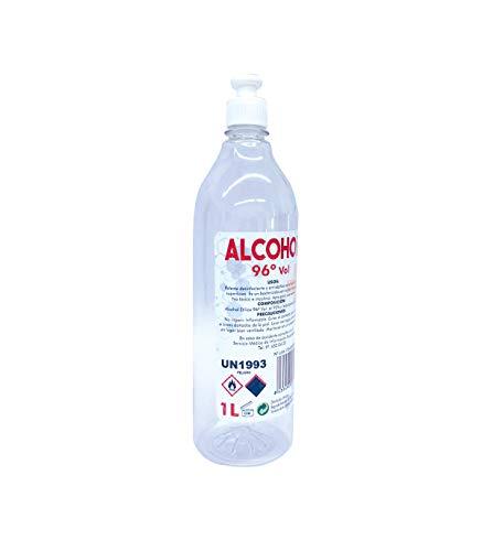 Grupo K-2 Wonduu Alcohol Etílico 96º, Antiséptico y Bactericida   Botella De 1 Litro.