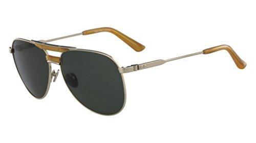 Calvin Klein 205W39nyc Ck8050S 714 59 Gafas de sol, Shiny Light Gold, Hombre