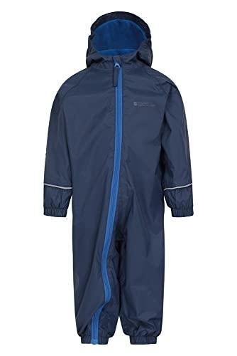 Mountain Warehouse Spright Bedruckter Regenanzug - Atmungsaktiv, Gefüttert, Wasserfest, versiegelte Nähte Anzug, Fleecefutter - Für Jungen und Mädchen, Frühling Marineblau 6-12 Monate