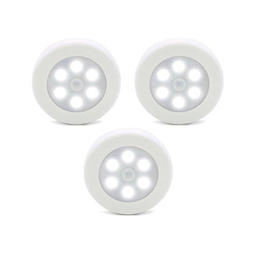 Luces de sensor de movimiento ZEEFO, luces de noche LED a pilas, luces de armario para guardar en cualquier lugar, luces de escalera, luces de pared para pasillo, baño, dormitorio, cocina