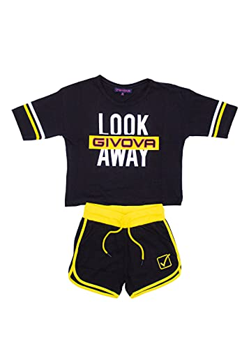 givova - Mono de verano de algodón para niña, compuesto de camiseta y pantalón corto bermuda, disponible en varios colores.
