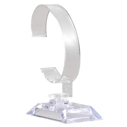 Wakauto 6 Stück Acryl Uhren Display Ständer Klar Uhr Display Halter Rack für Schmuck Armband Uhr Desktop Organizer
