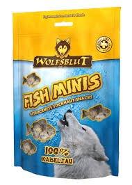 Wolfsblut 4 x 100g Snack Fish Minis Kabeljau, Leckerli, Kauknochen