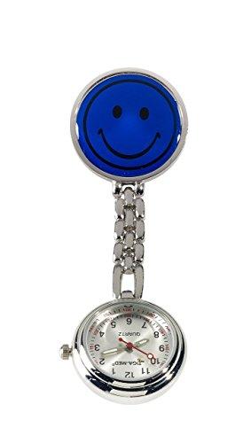 Leiber Ansteckuhr, Pulsuhr, Schwesternuhr, Uhr mit Sekundenzeiger (marine)