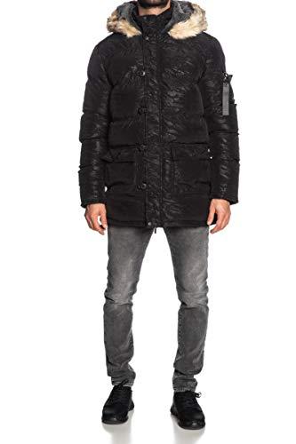 Sik Silk SS-15117 Wet Camo Parka Jacket - Black X-Small Black