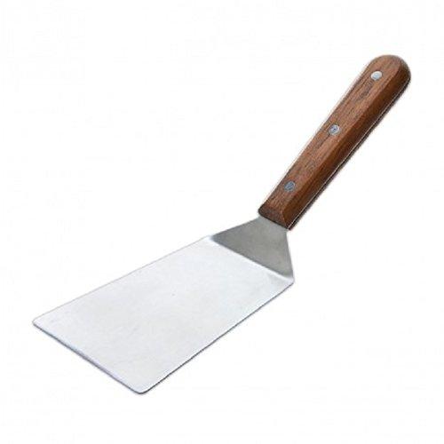 PFANNENWENDER Winkelpalette Grillwender Grillspachtel Bratenwender breit Bratenheber Küchenspachtel
