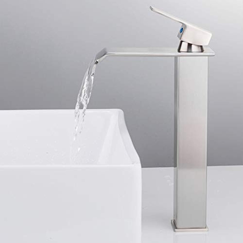 Mzdpp Hochwertige Becken Wasserhhne Moderne Waschbecken Mischer Wasserhahn Einzigen Griff Platz Hohe Badezimmer Hot & Cold Sink Wasserhahn