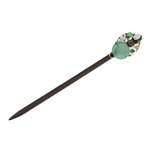IPOTCH Damen Holz Haarstab Haarnadel Hairstick Hairpin Chinesischer Stil - 7