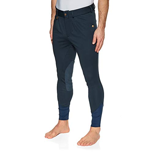 Derby House Elite - Pantaloni da equitazione invernali da uomo Marina Militare 86,36 cm