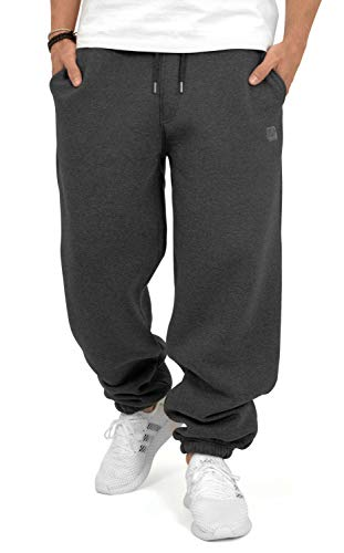 BACKSPIN Sportswear - Basic Jogginghose Farbe Dunkelgrau meliert, Größe M