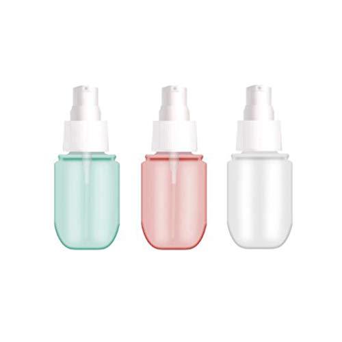 planuuik 3 pièces Rechargeable Vide Lotion Pompe Bouteille Cosmétique Mist Parfum Pulvérisateur Distributeur