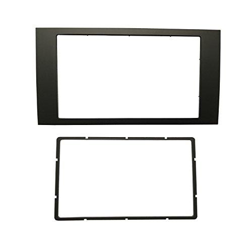 Maxiou - Kit de instalación de panel frontal doble DIN estéreo, para Ford Focus II, C-Max, S-Max, Fusion, Transit, Fiesta III