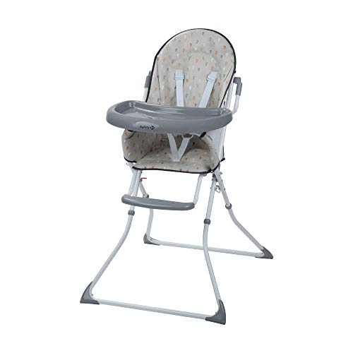 Safety 1st Kanji Chaise Haute Enfant Pliable, de 6 mois à 3,5 ans, Warm Grey