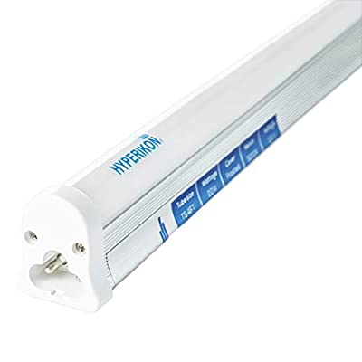 Hyperikon T5 4 Foot LED Integrated Tube, Single Linkable Under Cabinet Light Fixture, Built in Switch, 50 Watts, UL, Daylight