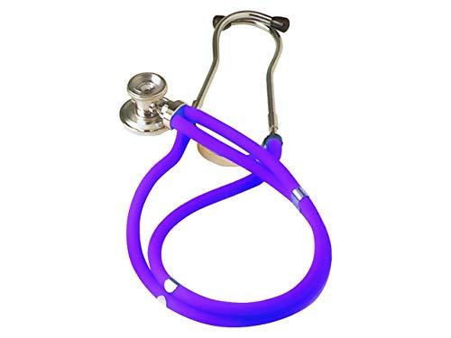 Jotarap-Stethoskop mit Doppelschlauch und zwei Köpfen, Typ Rappaport, für Kardiologie und Notfälle, violett