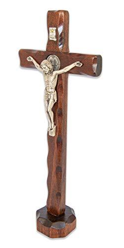 La Balestra Crucifijo San Benito de madera natural de mesa – Cristo...