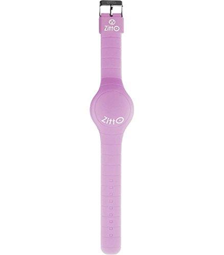 Orologio ZITTO a led con cinturino in silicone Shiny Lilac lilla Piccolo