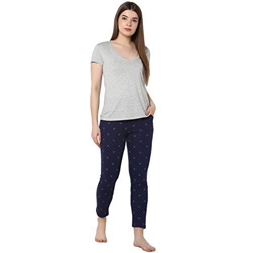 Alan Jones Clothing Women's Regular Fit Track Pants ( WM19 _ Navy Blue _ Small )