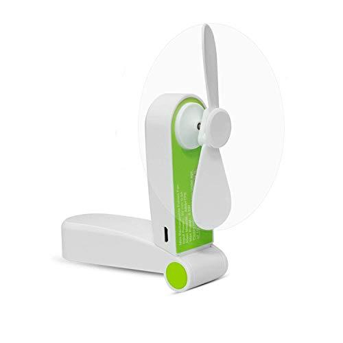 DUGUE Ventilador Portátil Mini Fan Plegable Ventilador Recargable con Cable USB Ideal para Viajes, Camping, Casa, Oficina, Clase