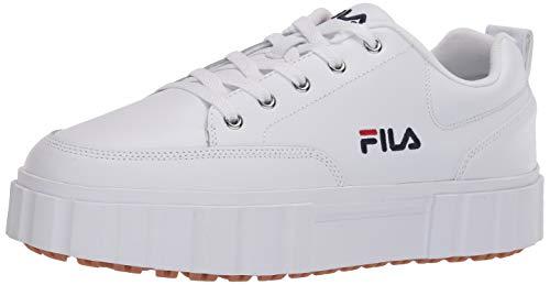 Fila Sandblast - Tenis Bajos para Mujer, Color Blanco, Talla 41 EU