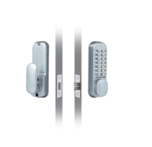 Codelocks 0155 SG Digitales Türschloss mit mechanischen Tasten, Einsteckriegel und Doppelfunktions-Rückplatte