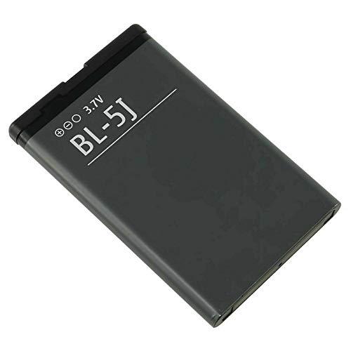 Ellenne Batería compatible con Nokia Lumia 520 525 530 Dual BL-5J BL5J alta capacidad 1320 mAh