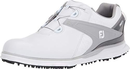Footjoy Herren PRO SL Golfschuh, Weiß Grau, 43 EU