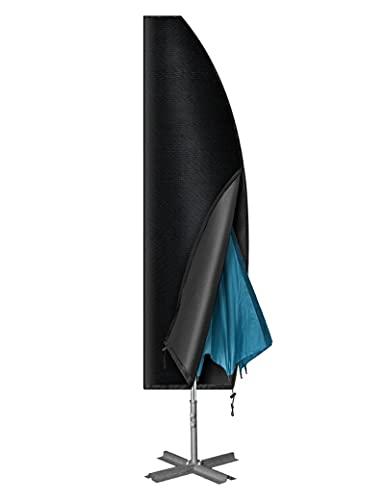 Myguru 265cm Coperture Ombrelloni da Giardino Ombrello Cover Parasole Copriombrellone con Zip Protettiva Ombrellone Impermeabile, Anti- Vento/UV/Polvere Oxford 420D - (Larghezza: 40cm/ 70cm/ 50cm)