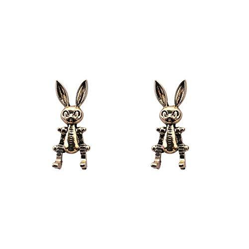 Zuiaidess Pendientes De Gota De Mujer - Animal Rabbit Vintage Hip Hop Pendientes Colgantes, Encanto Femenino Moda Punk Divertido Color Dorado Joyería, Fiesta Club Oficina Casual Accesorios De Regalo