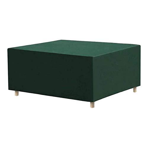 Fundas para muebles de jardín a prueba de agua 420D, 140x140x100cm Fundas para muebles de patio a prueba de viento, resistentes al desgarro, fundas de mesa para exteriores verdes, tela Oxford rectang