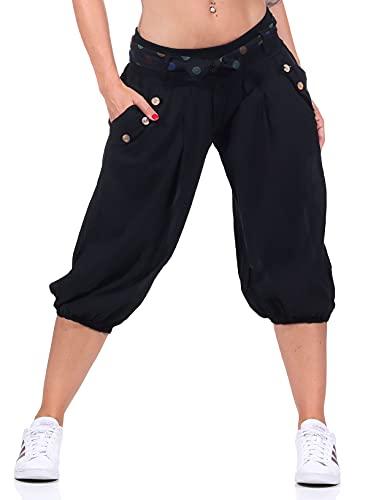 Malito Mujer Corto Bombacho Pantalón con Cinturón...