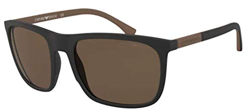 Emporio Armani 0EA4133 Gafas de sol, Black Rubber, 59 para Hombre