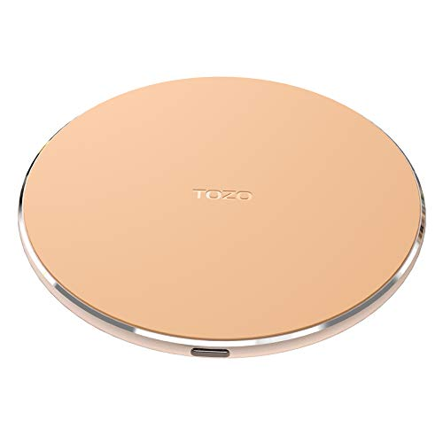 TOZO W1 Wireless Charger Thin Aviation Aluminum Computer Numerical Control Technology Fast Charging Pad Khaki (NO AC Adapter)