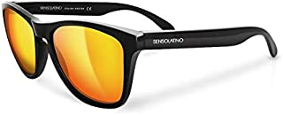 SensoLatino Wayfarer Orange Lens Black Frame Sunglasses for Women's, Men's SL-10