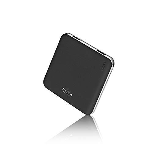 MOXNICE Power Bank 10000mAh Powerbank, Slim Batteria Portatile Batteria Esterna per Smartphone e Tablet, Regalo per Uomo Donna (Nero)