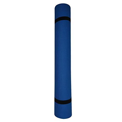 Esterilla de yoga para gimnasia, almohadillas de ejercicio antideslizantes para pilates, pilates, puente de glúteos, tablones y ejercicio de suelo 1730 x 600 x 4 mm, color azul