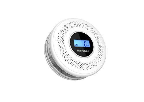 Walkbee Wireless Battery Pack Combination-Smoke-Carbon-Monoxide-detectors and Alarm,Installed in Bedroom, Kitchen, Living Room,Home