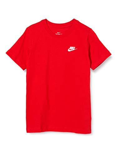 Nike B NSW Tee EMB Futura T-Shirt Garçon, University Red/(White), FR : L (Taille Fabricant : L)