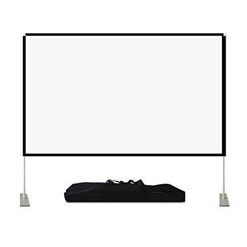 XLOO Pantalla Proyector,Enrollable,100 Pulgadas,16: 9,película Portátil para Interiores al Aire Libre,con Trípode Plegable Y Mochila,para Cine en casa,Juegos,Oficina