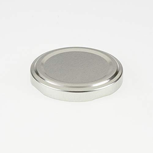 Flaschenbauer 20 St. Ersatzdeckel Twist-Off-Deckel 53 mm Silber für Glasflaschen, Milchflaschen und Einmachgläser