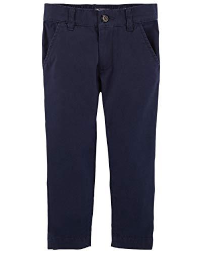 Osh Kosh Boys' Toddler Slim Stretch Twill Pant, Navy, 4T