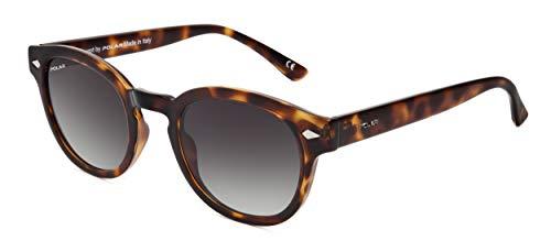 Polar Oliver - Gafas de sol polarizadas para hombre, color marrón flameado
